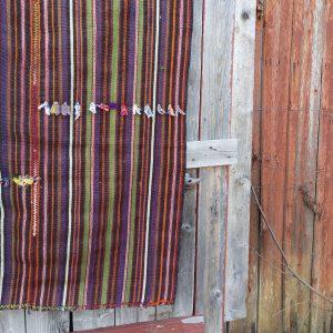 Turkkilainen nomadien kelim-matto 50-luvulta