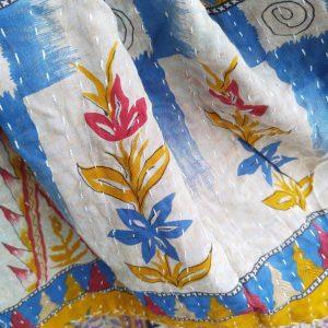 Vintage kantha peitto keltavioletti